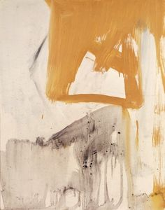Franz Kline - Ochre and Grey Composition 1955 oil and paper mounted to canvas 20 x 16 in.