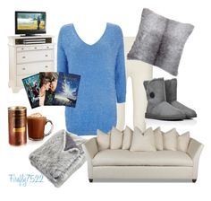 """""""Movie Day on the Couch"""" by firefly7522 ❤ liked on Polyvore featuring Falke, Wallis, UGG Australia, Pier 1 Imports and John Lewis"""
