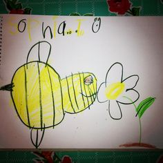 Wow, what a large bumble bee!! Made by Sophie Grace, 5 years old, Artist Of The Day on 07/15/2013 • Art My Kid Made