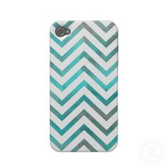 Turquoise White Chevron Iphone 4 Cases by Organic Saturation #iphone #iphonecase #chevron #zigzag #pattern #iphonecover #turquoise