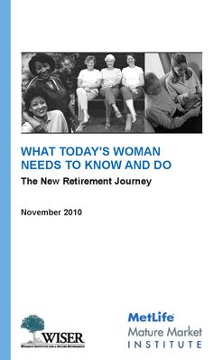 Women Need to Know - FREE booklet about the retirement journey for women and how it is changing across generations.