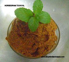 Indian Recipes - Horsegram Thuvaya
