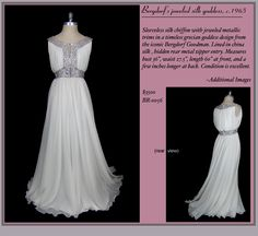 !!! Gorgeous Grecian gown by Bergdorf's