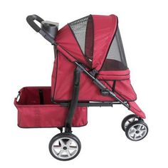 The Monaco Pet Stroller by Gen7Pets combines luxury, style and convenience into one fantastic product. From the lightweight aluminum oval-style frame and ergonomic handles to the innovative auto-latch