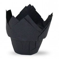 Muffiny tulipan step czarne 50x80mm G50/STEP