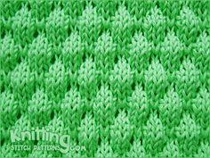 3D bubbles knitting stitch pattern.
