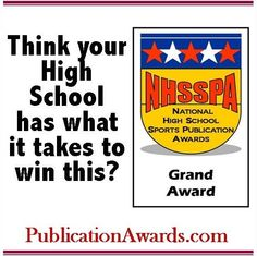Facebook graphic promoting www.PublicationAwards.com National High School, Sports Awards, School Sports, Words, Facebook, Horse