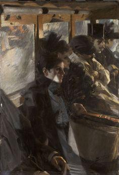 "The second version of Anders Zorn's 1892 Paris bus painting, ""Omnibus II."" (Courtesy Gardner Museum)"