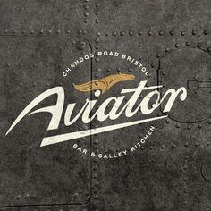 Small words making up the extra design elements Typography Logo, Logos, Logo Branding, Branding Design, Aviation Logo, Aviation Theme, Wright Flyer, Aviation Furniture, Bar Logo