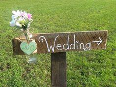 Mint green Rustic wedding directional sign, country wedding sign, barn wood wedding, shabby chic wedding, mason jar wedding