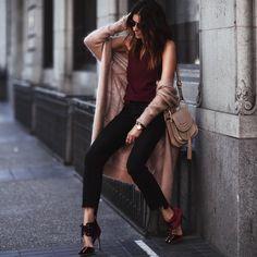 Watch: Movado Cardigan: Acne Studios Top: Amanda Uprichard Jeans: Frame Denim Shoes: Jimmy Choo Bag: Chloe Bracelets: Vita Fede Rings: Vita Fede, Geoffrey Scott, Mejuri Sunglasses: Dior