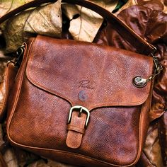 big leather shoulder bag.