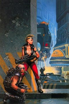 Punks of the apocalypse in a city of the future