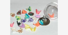 Size can very by or so depending on wing span of butterfly and dragonfly~ . Pony Beads, Jewelry Making Beads, Bead Crafts, Bing Images, Turtle, Miniatures, Butterfly, Charmed, Miniature Dollhouse