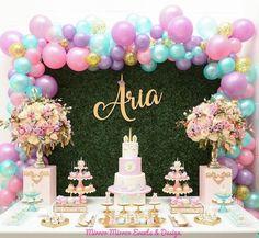 15 More Creative Princess Birthday Party Ideas Unicorn Themed Birthday Party, 1st Birthday Girls, Birthday Party Decorations, 1st Birthday Parties, Princess Birthday, Unicorn Baby Shower Decorations, Baby Shower Princess, Cadeau Baby Shower, Idee Baby Shower