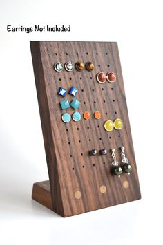 THE LINK SENDS YOU TO OUR NEW DESIGN!! https://www.etsy.com/listing/272851366/stud-earring-holder-earring-storage?ref=shop_home_feat_1