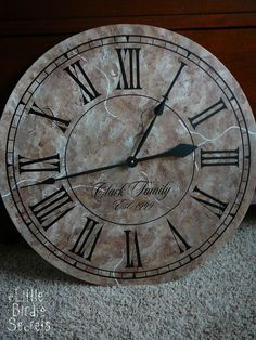How to make your own vintage clock - tutorial
