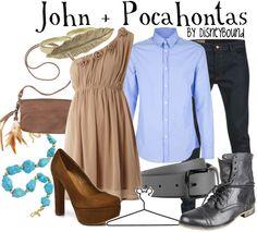 John Pocahontas by Disney Bound. Disney Bound Outfits, Couple Outfits, Couple Clothes, Pocahontas Outfit, Disney Pocahontas, Pocahontas Halloween, Disney Couples, Disney Princesses, Disney Inspired Fashion