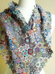 Scarlet scarf by Sophie Digard