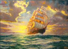 Courageous Voyage. Painted by Thomas Kinkade. http://www.thomaskinkade.com/magi/servlet/com.asucon.ebiz.catalog.web.tk.CatalogServlet?catalogAction=Product&productId=207738&menuNdx=0