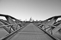 Millennium Bridge and St Paul's Millennium Bridge, Bridges, Southern, England, Explore, Adventure, World, Travel, Viajes