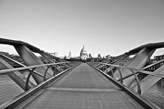 Millennium Bridge and St Paul's.