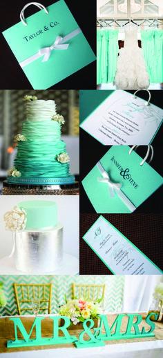 Tiffany Blue Wedding Theme! Breakfast at Tiffany's Wedding invitation. Tiffany Blue wedding!
