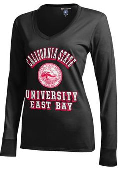 Product: Champion California State University East Bay Pioneers Women's Long Sleeve V-Neck Campus T-Shirt