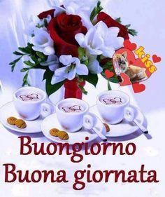 Italian Memes, Joelle, Good Morning, Tea Cups, Pandora, Night, Italian Quotes, Good Day Quotes, Be Nice