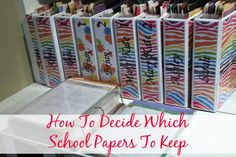 MANY mothers I asked have saved EVERY. SINGLE. PIECE of paper their child has brought home from school. Here's how to decide what to keep. | Organize 365
