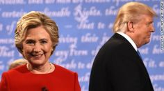 What to watch in the second presidential debate Democratic nominee Hillary Clinton and Republican nominee Donald Trump leave the stage after the first presidential debate at Hofstra University in Hempstead, New York on September 26.