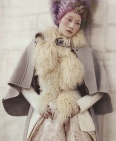 """Powdery Flower"" Vogue Korea January 2014"
