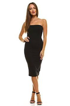New Trending Formal Dresses: Vialumi Womens Long Midi Tube Dress w Lining Solid Black Small. Vialumi Women's Long Midi Tube Dress w Lining Solid Black Small  Special Offer: $17.95  333 Reviews Solid-colored, below-the-knee length strapless tube dress with lining. Soft, stretchy material. Available in black, charcoal grey and red in sizes Small to 3X (Junior...