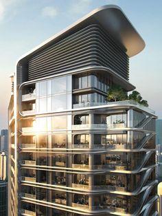 Masterplan Architecture, Architecture Building Design, Hotel Architecture, Architecture Visualization, Building Exterior, Building Facade, Commercial Architecture, Facade Design, Futuristic Architecture