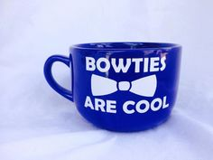 Bowties Are Cool, Dr Who Inspired, Coffee Mug, Whovian, Xtra Wide Mug by TheLittleSparkleShop on Etsy