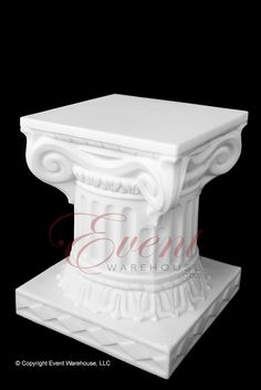 "12"" Empire Wedding Column www.event-warehouse.com Wedding Columns, Warehouse, Empire, Cake, Desserts, Pastel, Deserts, Kuchen, Cakes"