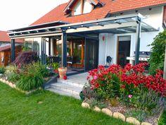 Moderner Sommergarten mit Aufglas Beschattung. Outdoor Decor, House, Ideas, Home Decor, Summer Garden, Winter Garden, Decoration Home, Home, Room Decor