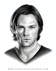 """Jensen Ackles as """"Dean Winchester"""" (SUPERNATURAL - CW)* Approximately - Graphite - Ink - Marker - Colored Pencil - White Paint (highlights) *Rendered for Jensen's appearance at the Supernatural. Sam Winchester, Winchester Supernatural, Supernatural Drawings, Supernatural Convention, Supernatural Fan Art, Fantasy Tv, Fantasy Movies, Funny Phone Wallpaper, Fanart"""