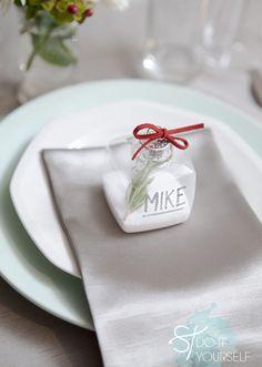 segnaposto matrimonio natalizio