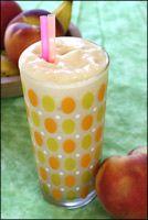Tropical Bfast Smoothie (185 cal) - peach yogurt, crushed pineapple, banana, lime juice and ice