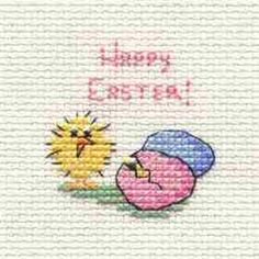 Easter Chick and Eggs Cross Stitch Kit: Cross stitch (Mouseloft, 014-649stl)