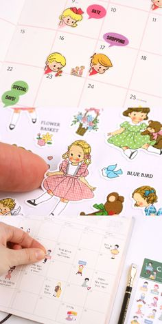 Make your planner or calendar playful with these adorable little sticker friends! ^.^
