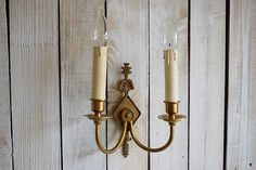 Vintage Bronze Wall Light  French Antique Electric Wall Mount