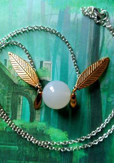 FINAL BLOWOUT SALE--2/3 off Majora's Mask-inspired Tatl necklace (gold wings)