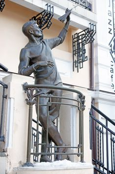 """Monument to Sergey Utochkin, the famous sportsman, motorcyclist and aviator, the conqueror of """"the fifth ocean"""", is situated in the City Garden.  #Odessa #Monuments #Art #Famous #Sportsman"""