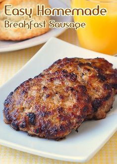 Easy Homemade Breakfast Sausage - impress your weekend brunch guests with these easy, freshly made sausage patties with no preservatives! You'll taste the difference.