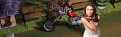 096 - #3D TAEVision @RachelLFilsoof #Fashion in #CentralPark Conservatory Garden #music #reverbnation #makeup #cosmetics #photoshoot Harley Davidson Chopper