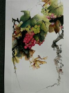 Watercolour Tutorials, Watercolor Artists, Watercolor And Ink, Watercolour Painting, Painting & Drawing, Watercolors, Japanese Watercolor, Japanese Art, Art Chinois
