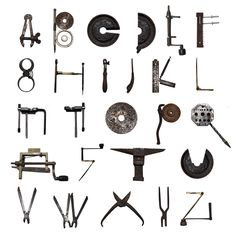 MECHANICAL TYPOGRAPHY // by Plástica , via Behance