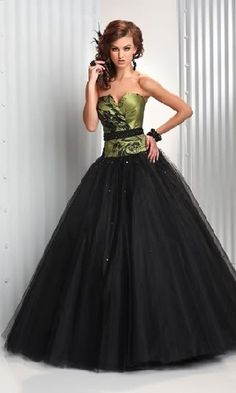black and green prom dress-- am i weird for kind of liking this?